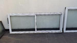 Ventanas Aluminio corredizas con vidrios resistentes con
