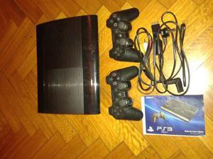 Playstation 3+ 2 Joystick + 4 Juegos + Alfombra De Baile