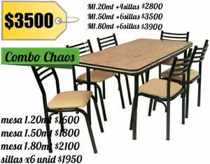 Juego de mesa + 6 sillas