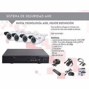 Kit Seguridad Dvr 8 Bocas 4 Cámaras Ahd 1mpx