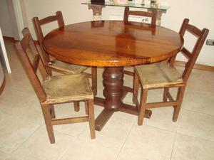 Mesa redonda algarrobo capital federal y gba posot class for Sillas para mesa redonda