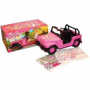 Auto Safari Barbie Fashion Jeep Original Rosa 30cm Stickers