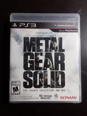 Metal Gear Solid The Legacy Collection Nuevo Fisico Sellado