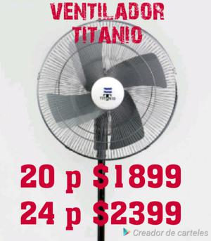 Ventilador titanio 20 y 24 pulgadas