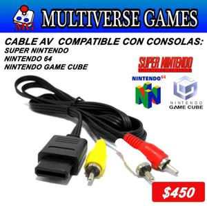 Cable AV, Snes,N64 y Gamecube