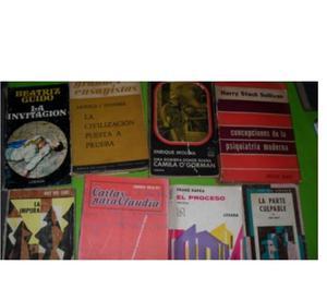 LOTE 8 LIBROS KAFKA, BUCAY, MOLINA, DE CARS, TOYNBEE, GUID