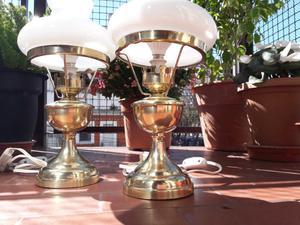 Lampara velador Antigua bronce Quinque Miller