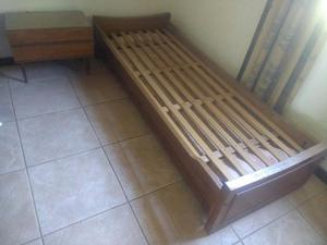 Vendo cama 1 plaza c/cama desplazable $