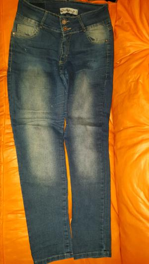 Vendo pantalón jeans de mujer tiro alto talle 46