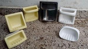 Antigua jabonera y porta cepillos de dientes posot class for Porta jabonera para bano