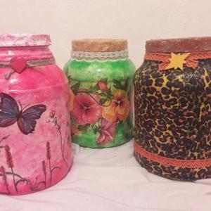 Frascos decorados x 2 litros