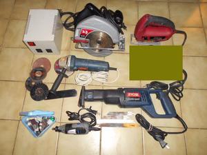Lote 5 herramientas de calidad Sierra Sable circular