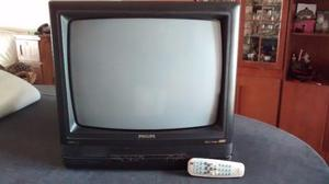 TV color Phillips 20 pulgadas. Con control remoto. CRT, de