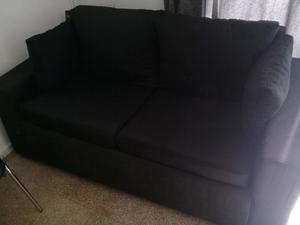 Vendo sillón tres cuerpos en tela negra