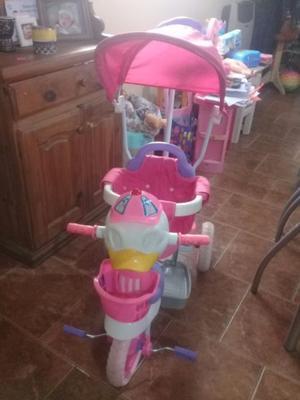 triciclo duck rosa