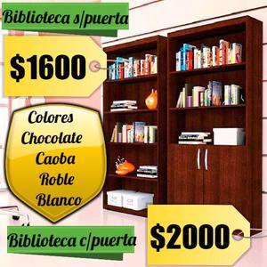 Bibliotecas con y sin puertas