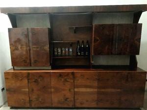 Modular vajillero cristalero madera laqueada antiguo