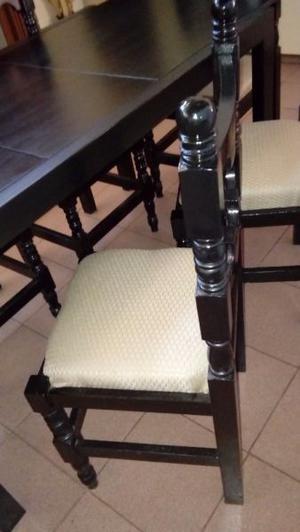 Vendo mesa extensible y 6 sillas tapizadas excelente estado