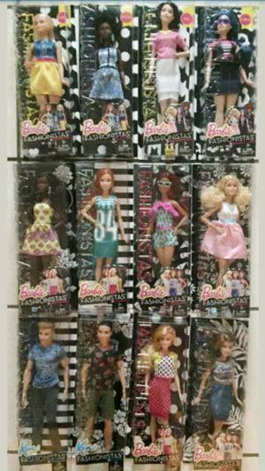 muñecas barbies fashionistas mattel nuevas en caja