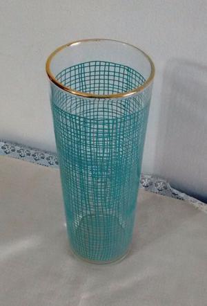 florero de vidrio vintage