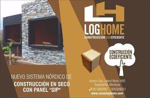 """CONSTRUCCIÓN CON PANEL """"SIP"""" - DE CASAS LOG HOME"""
