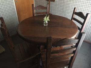 Compro comedor mesa sillas san isidro posot class - Mesa redonda con sillas ...