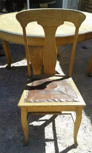 Mesa roble ingles macizo con 4 sillas