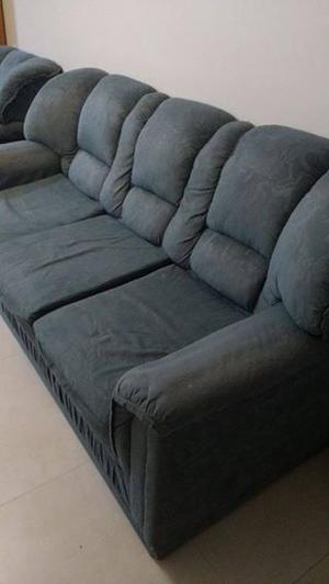 Juego de sillones - sofá de 3 cuerpos y dos sillones de un