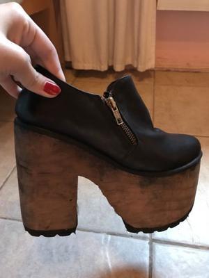 Zapatos con plataforma talle