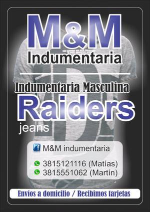 Indumentaria masculina (Raiders)