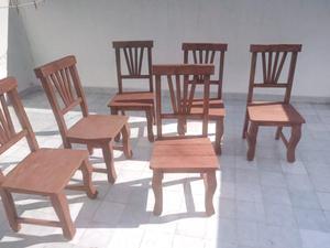 Juego comedor, mesa 1,60 más 6 sillas, sin uso