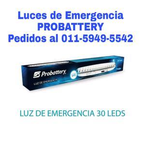 LUZ DE EMERGENCIAS PROBATTERY, 30 LED CON 8HS DE AUTONOMIA,