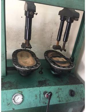 Maquina de pegar hidráulica para calzado