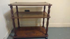 Mesa para tv de madera doble estante 71 cm alto x 70 cm