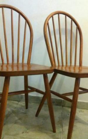 Par sillas windsor madera roble americana escandinava