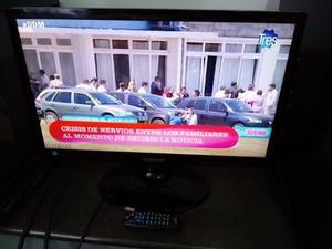 TV SAMSUNG LED 24,FULL HD,VGA,HDMI,USB,C/REMOTO,IMPECABLE!!