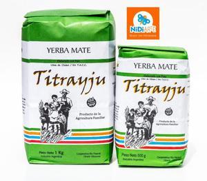 Yerba Mate Orgánica Titrayju - Apta Celiacos -