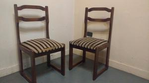 juego de 2 sillas de madera 93cm alto x 44 x
