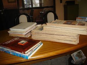 Colección de revistas y libros de arquitectura