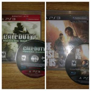 Juegos de Ps3 COD Mw4 + The Last of Us