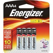 Pilas Energizer E-92 Aaa Blister X 4