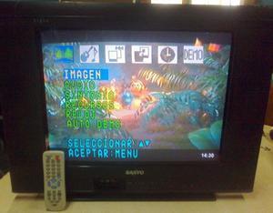 Tv Sanyo C21FS51 de 21 pulgadas p. plana U.Slim [usados en