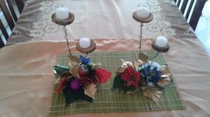 centro de mesa navideños