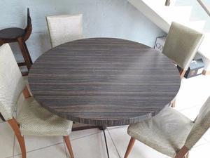 Juego comedor mesa redonda y sillas