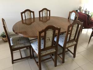 Juego de comedor mesa 6 sillas y vajillero posot class - Mesa redonda de comedor extensible ...