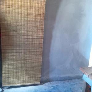 cortina de junco enrollable