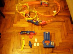 JUEGUETE pista HOT WHEELS PARA PARED CON LANZADOR - USADA