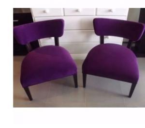 juego de comedor 6 sillas tapizadas y 2 materas