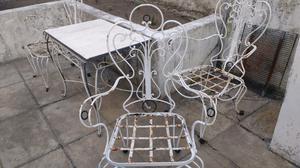 Hermoso juego de jardin colonial en hierro posot class for Juego de jardin de hierro antiguo