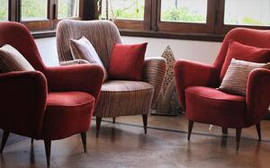 Juego de sillones antiguos restaurados 3